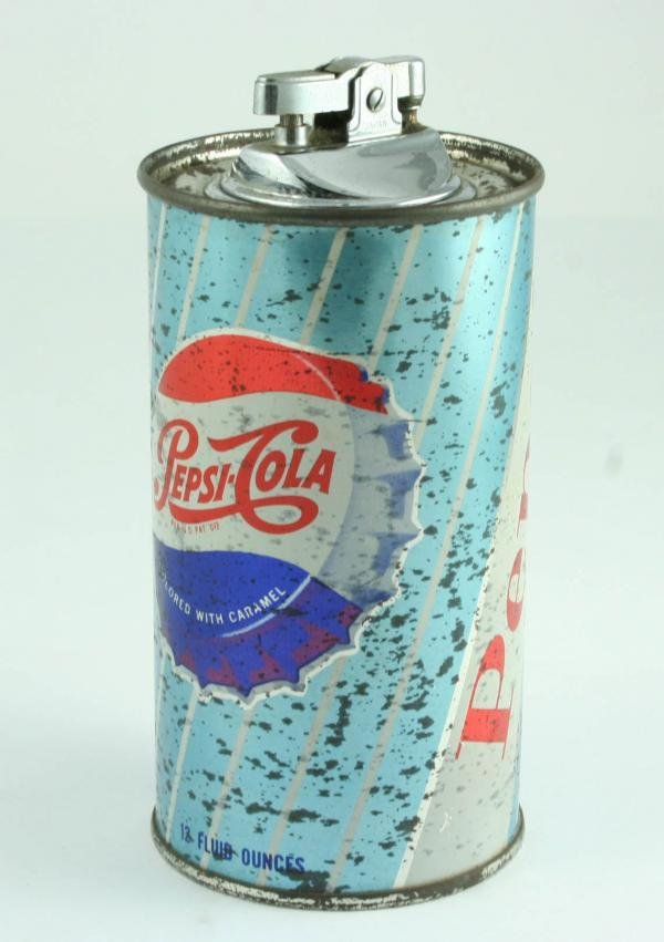 524: 1950s Pepsi-Cola Tin Can Cigarette Lighter