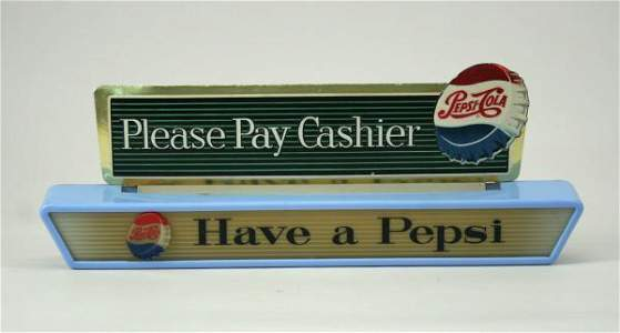 583: Pepsi-Cola Have a Pepsi Illum. Cashier's Sign