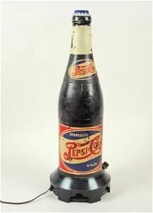 640: Pepsi-Cola Double Dot Figural Bottle Radio C1940s