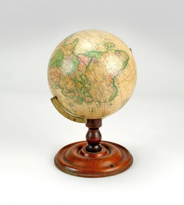 12: Joslin's Six Inch Terrestrial Globe on Stand 1860