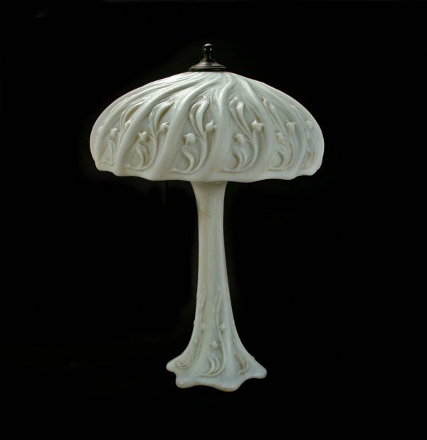 18: Lily of the Valley Art Glass Lamp, Circa 1910
