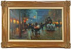52 Oil Painting Rue de la Madeleine Edouard Cortes