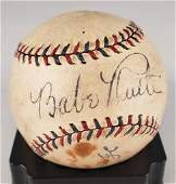 PSA Certified Babe Ruth Signed Baseball