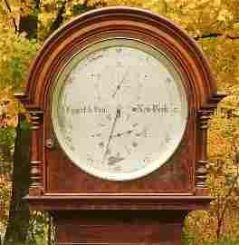 19c Eggert & Son NY Walnut Astronomical Regulator Clock