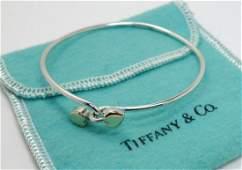 Tiffany  Co 18k Gold Sterling Silver Hearts Bracelet