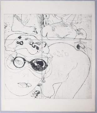 Adriena Simotova Signed Abstract Nude Print #12/15 1967