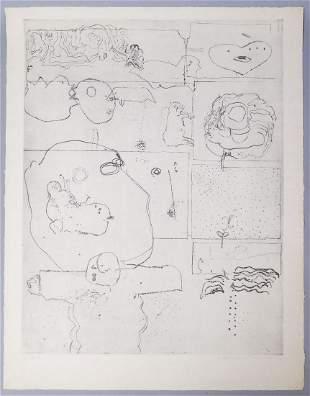 Adriena Simotova Signed Abstract Print #5/18 1966