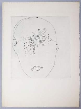 Adriena Simotova Signed Abstract Print 11/15 1969