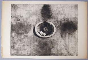 "Eva Bednarova Signed Print ""Hostinal"" #? 1970"