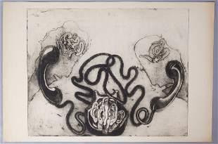"""Eva Bednarova Signed Print """"Rozhovov"""" 1970 11/15"""
