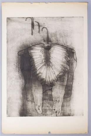 "Eva Bednarova Signed Print ""StareSaty"" #12/18 1970"