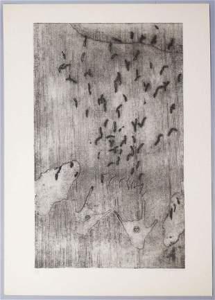 Eva Bednarova Signed Abstract Print 1969 #7/9