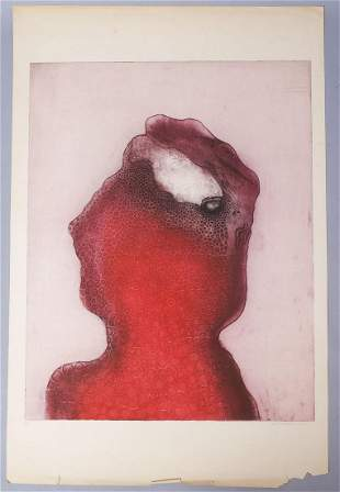 "Eva Bednarova Signed Print ""Bolestiva Hlava"" #1/10"