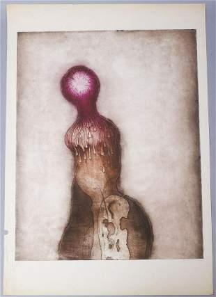 "Eva Bednarova 1970 Signed Print ""Plactiva Hlava"" #3/40"