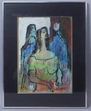 Koloman Sokol Signed Sambo Painting Three Women 1976