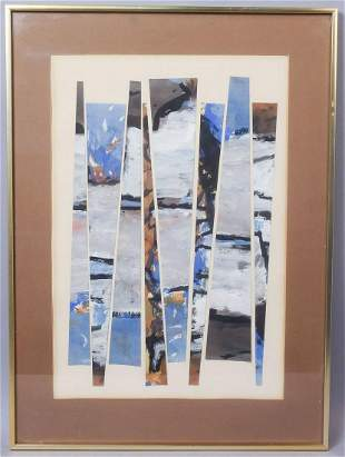 "Koloman Sokol Mixed Media ""Composition"" 1963"