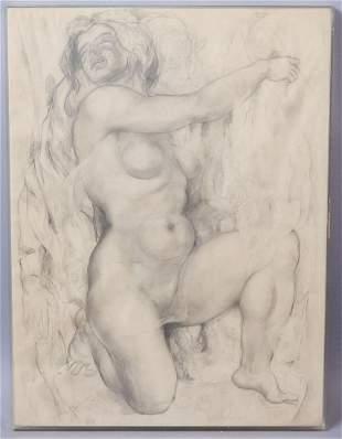 Koloman Sokol Signed Pencil Nude 1952-1963