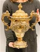 London 1748 Sterling Silver Robt Abercromby Lg Gilt Urn