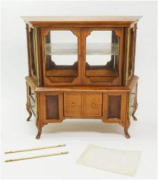 Miniature Dollhouse China Cabinet Cupboard w Mirror
