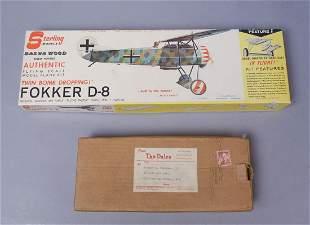2 Vintage Airplane Model Kits American Airlines DC-7