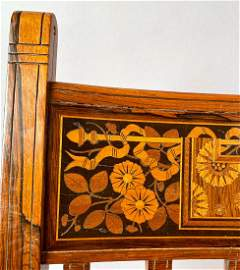 Herter Bros Rosewood Marquetry Chair Mark Hopkins House