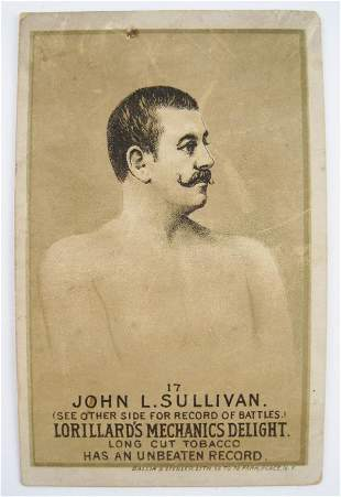 101: John L. Sullivan #17 Mechanics Delight Boxing Card
