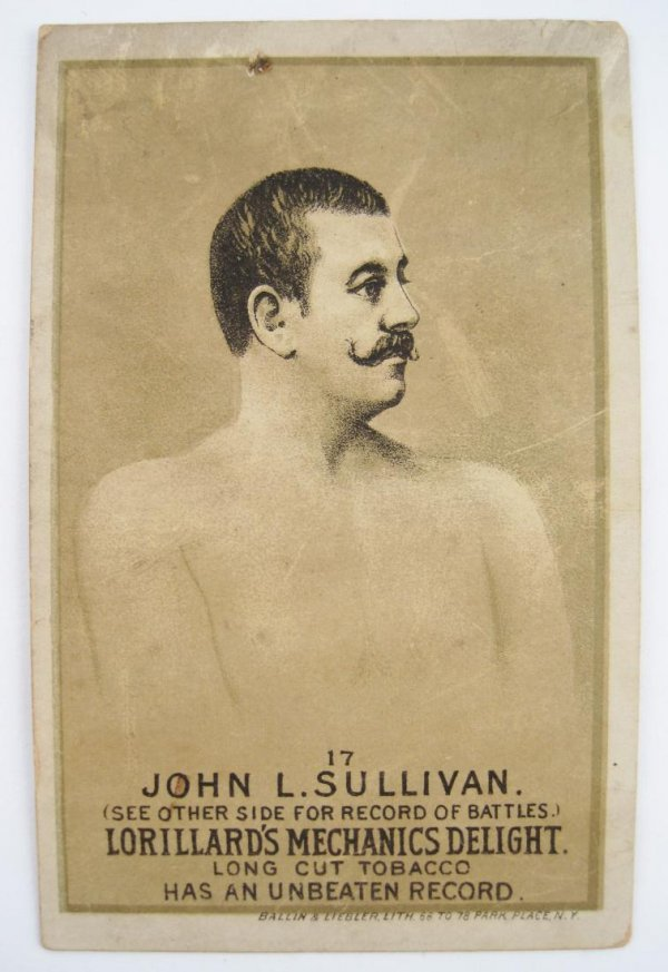 101: John L. Sullivan #17 Mechanics Delight Boxing Card