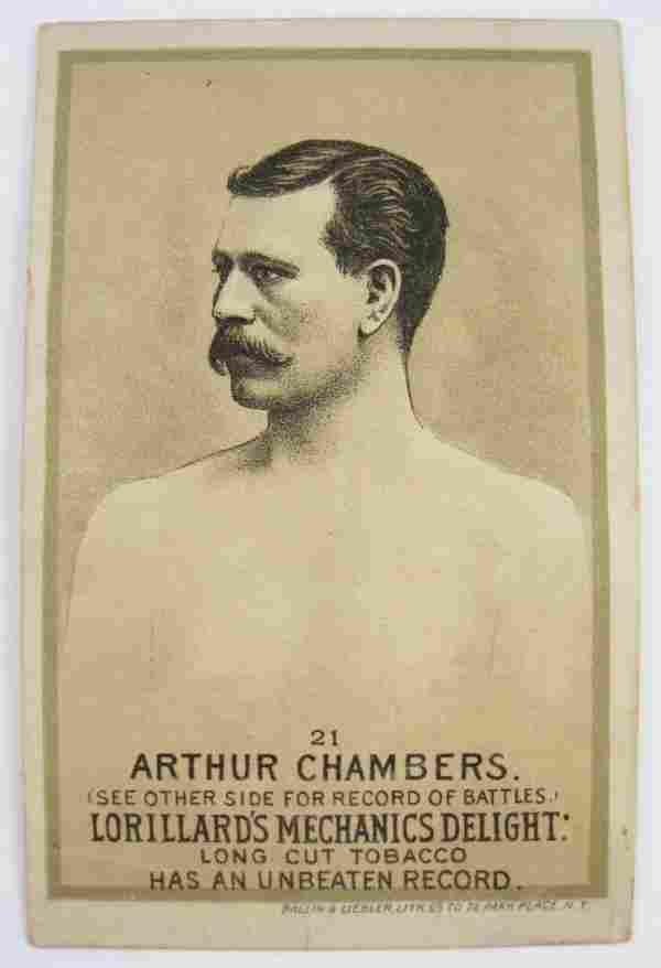 Arthur Chambers #21 Mechanics Delight Boxing Card