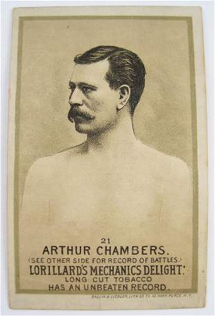 102: Arthur Chambers #21 Mechanics Delight Boxing Card