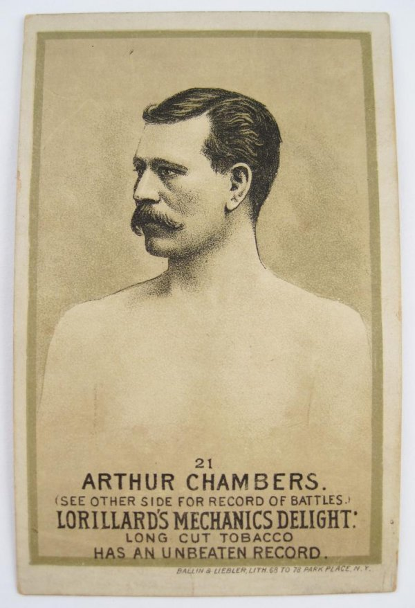 102: Arthur Chambers #21 Mechanics Delight Boxing Card