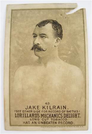 103: Jake Kilrain #43 Mechanics Delight Boxing Card