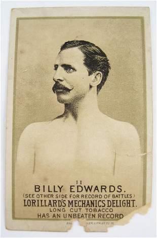 104: Billy Edwards #11 Mechanics Delight Boxing Card