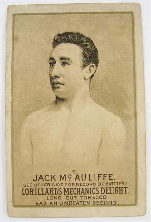 107: Jack McAuliffe #9 Mechanics Delight Boxing Card