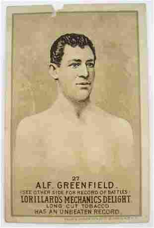 108: Alf. Greenfield #27 Mechanics Delight Boxing Card