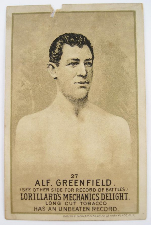 108: Alf. Greenfield #27 Mechanics Delight Boxing Card
