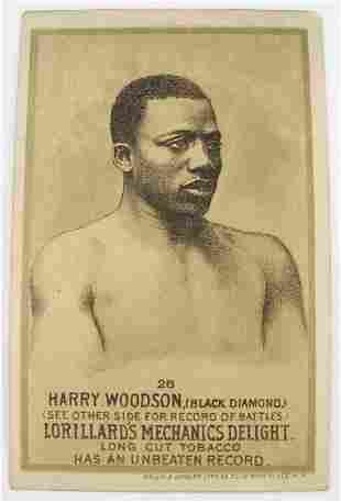 109: Harry Woodson #26 Mechanics Delight Boxing Card