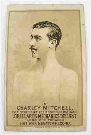 110: Charley Mitchell #10 Mechanics Delight Boxing Card
