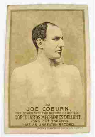 112: Joe Coburn #30 Mechanics Delight Boxing Card
