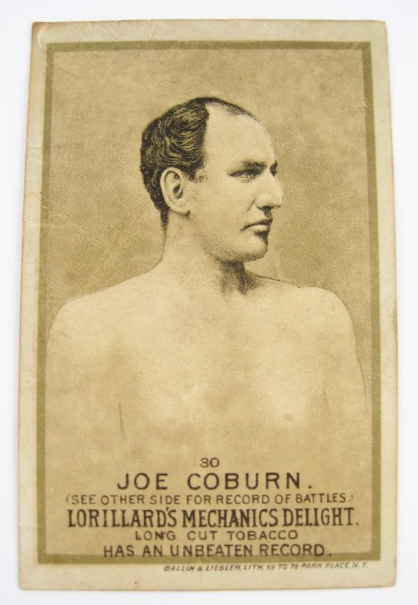 112: Joe Coburn #30 Mechanics Delight Boxing Card