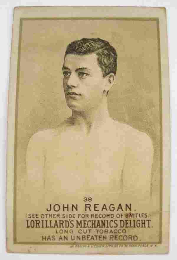 John Regan #38 Mechanics Delight Boxing Card