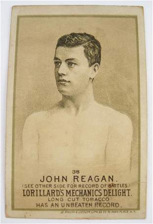 113: John Regan #38 Mechanics Delight Boxing Card