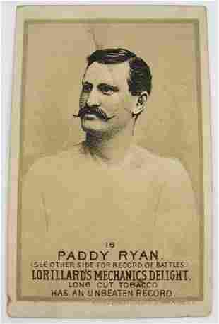114: Paddy Ryan #16 Mechanics Delight Boxing Card