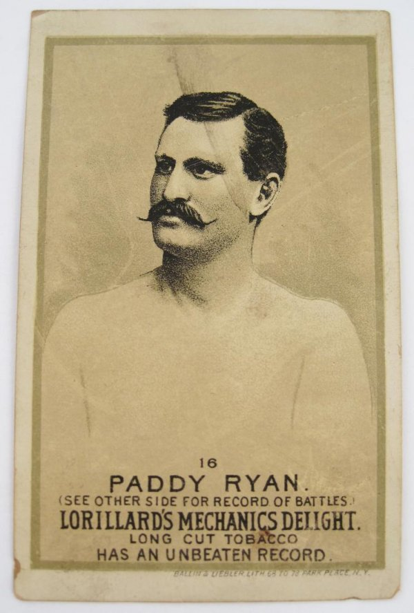 114: Paddy Ryan #16 Mechanics Delight Boxing Card