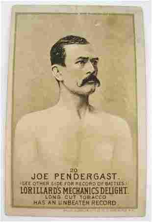 117: Joe Pendergast #20 Mechanics Delight Boxing Card