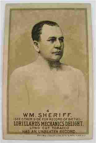 118: WM Sheriff #4 Mechanics Delight Boxing Card