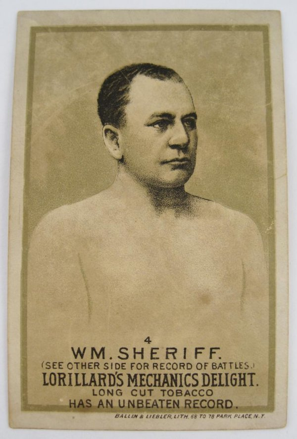 118: WM Sheriff #4 Mechanics Delight Boxing Card