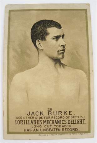 119: Jack Burke #29 Mechanics Delight Boxing Card