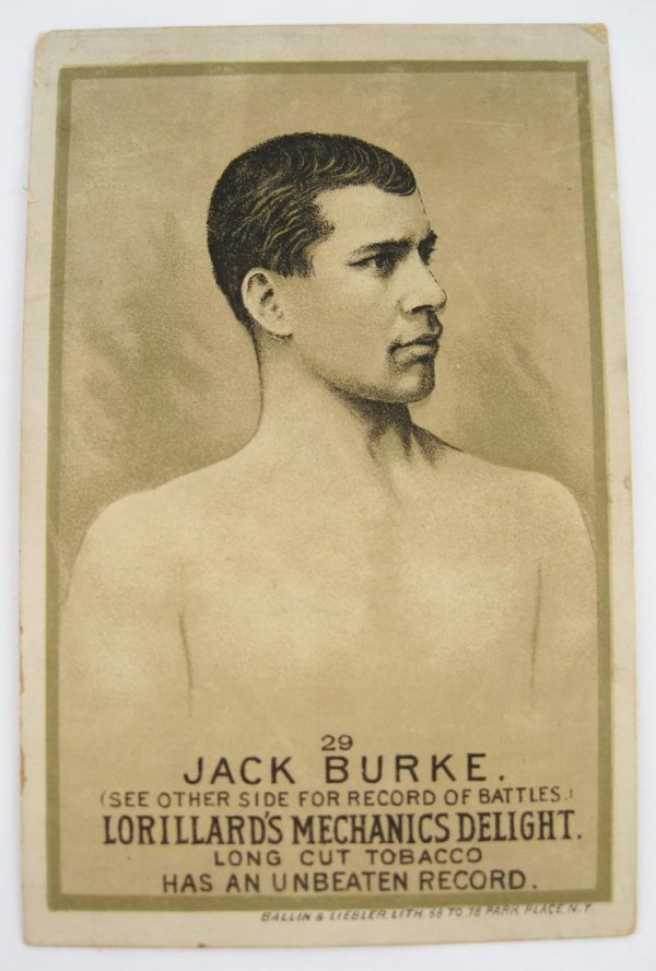 119: Jack Burke #29 Mechanics Delight Boxing Card