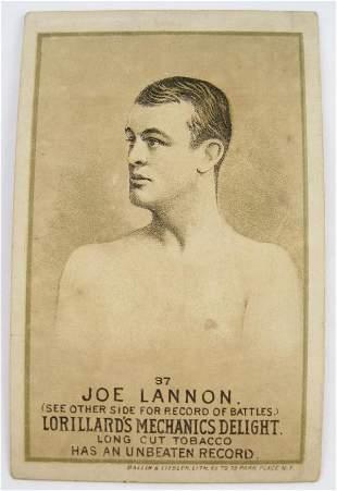 120: Joe Lannon #37 Mechanics Delight Boxing Card