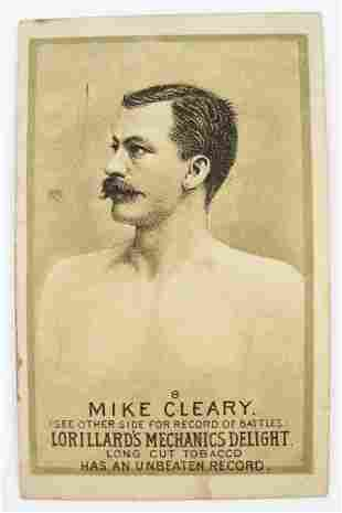 121: Mike Cleary #8 Mechanics Delight Boxing Card